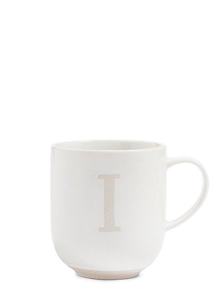 Alphabet I Wax Resist Mug