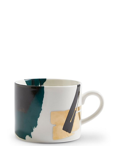 Manhattan Abstract Green Mug
