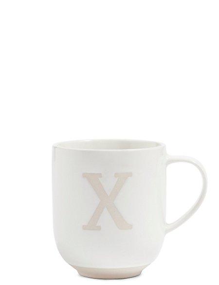 Alphabet X Wax Resist Mug