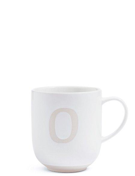 Alphabet O Wax Resist Mug