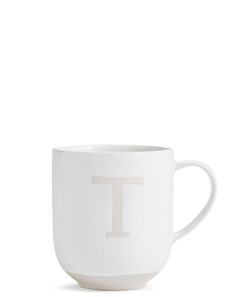 Alphabet T Wax Resist Mug