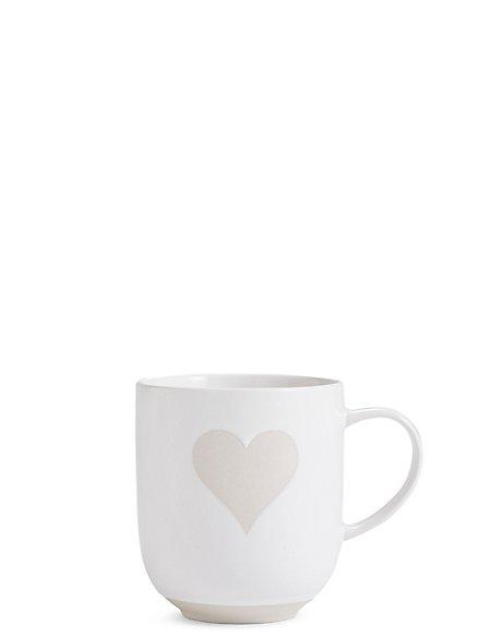 Heart Wax Resist Mug