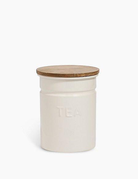 Worded Powder Coated Tea Caddy