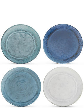 Reactive Set of 4 Melamine Dinner Plate