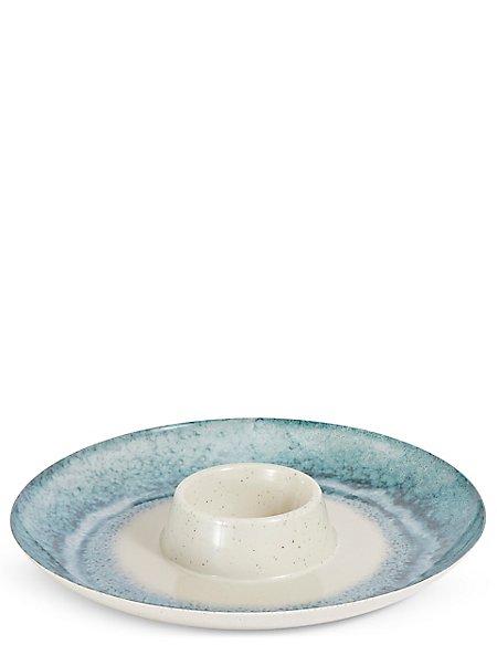 Reactive Melamine Chip & Dip Platter