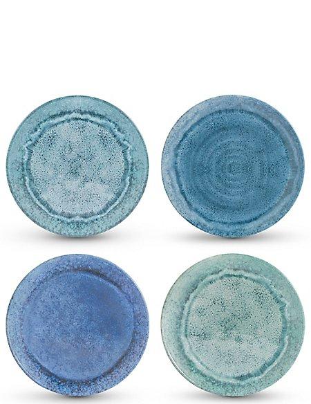 Reactive Set of 4 Melamine Side Plates
