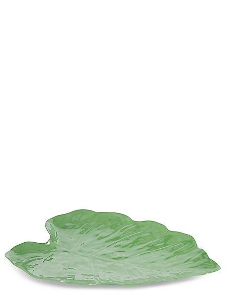 Large Leaf Melamine Platter