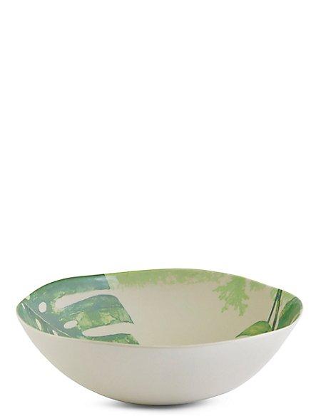 Leaf Print Melamine Salad Bowl