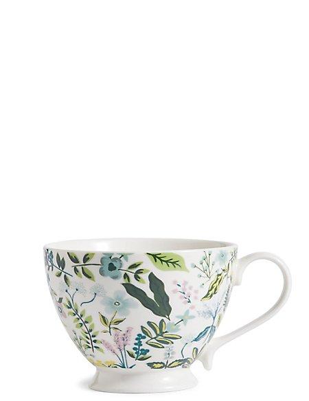 Fleur Footed Mug