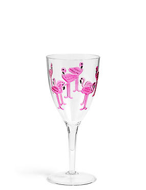 Flamingo Picnic Wine Glass