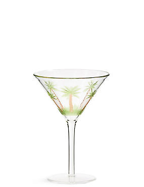 Palm Tree Picnic Wine Glass