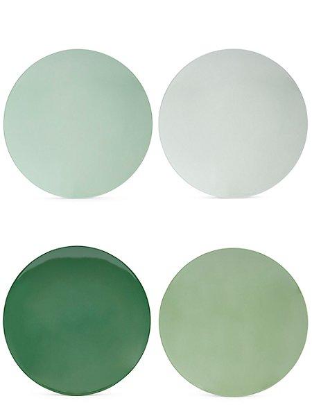 Set of 4 Melamine Plates  sc 1 st  Marks u0026 Spencer & Set of 4 Melamine Plates | Mu0026S