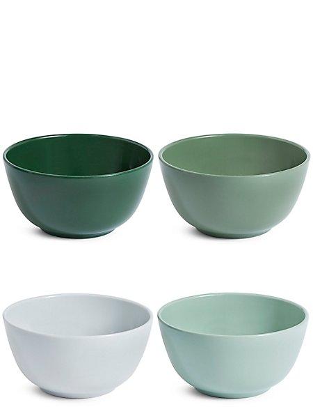 Set of 4 Melamine Bowls