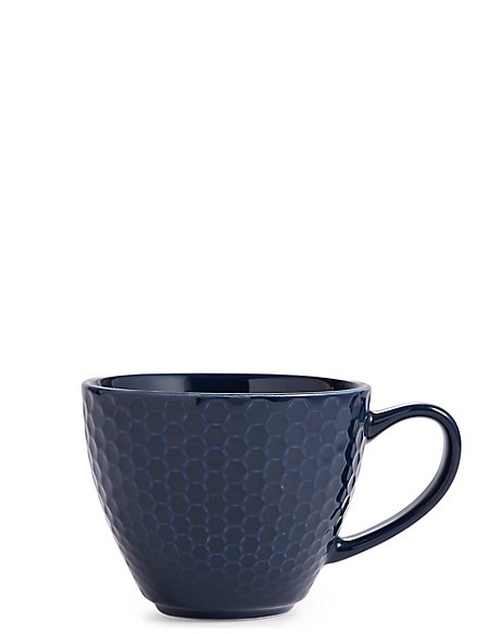 Textured Navy Mug