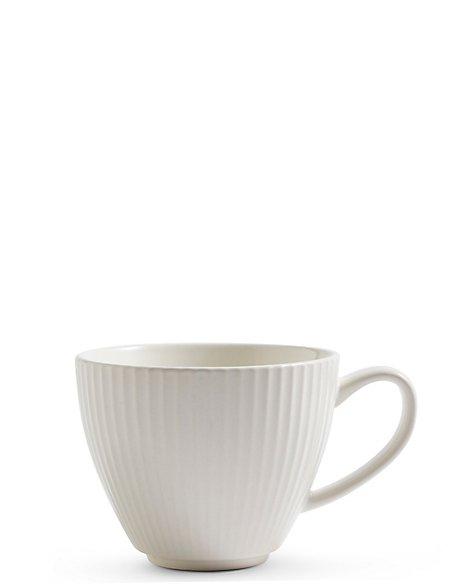 Textured White Mug