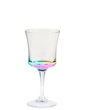 Rainbow Picnic Wine Glass