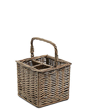 Wicker Cutlery Caddy