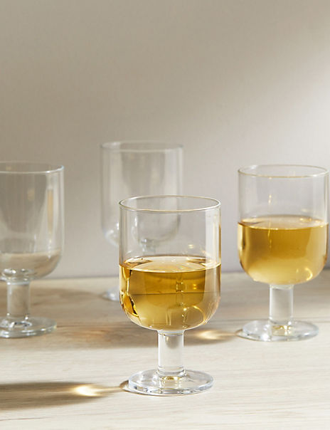 Set of 4 Tribeca Stackable Wine Glasses
