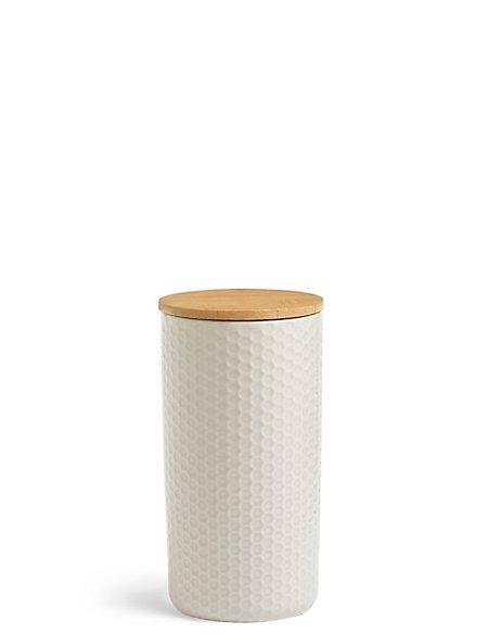 Textured Storage Jar Large