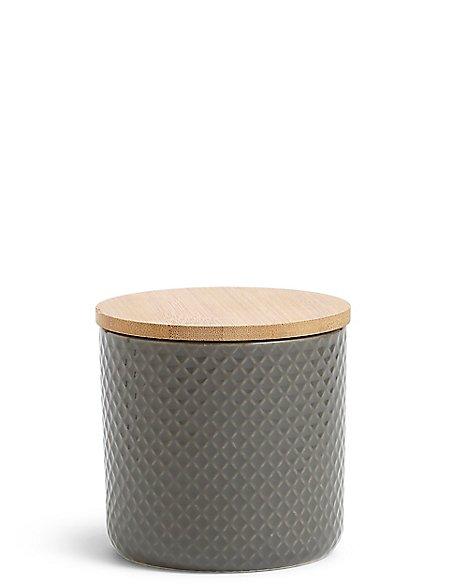 Textured Storage Jar Small