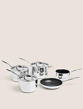 5 Piece Tri Ply Pan Set