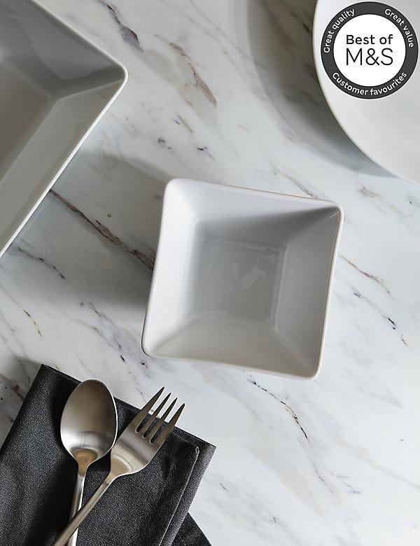 Maxim Square Porcelain Nibble Bowl