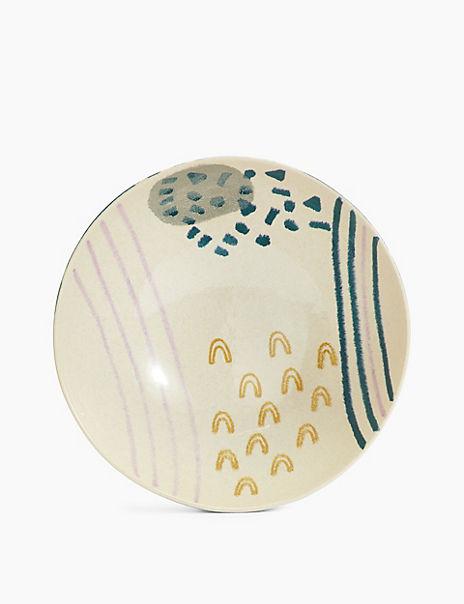 Stoneware Artisan Serving Bowl