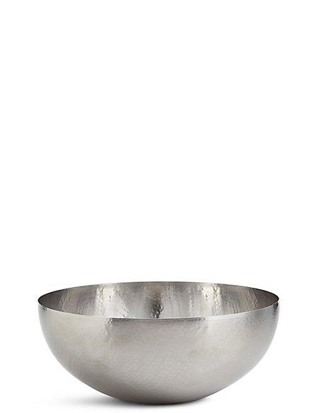 Hammered Metal Serving Bowl