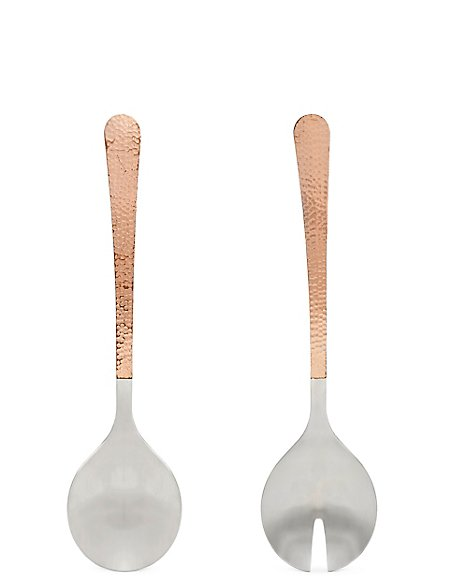 Hammered Serving Spoons