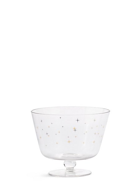 Star Print Small Trifle Bowl