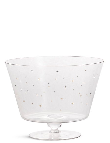 Star Print Trifle Bowl