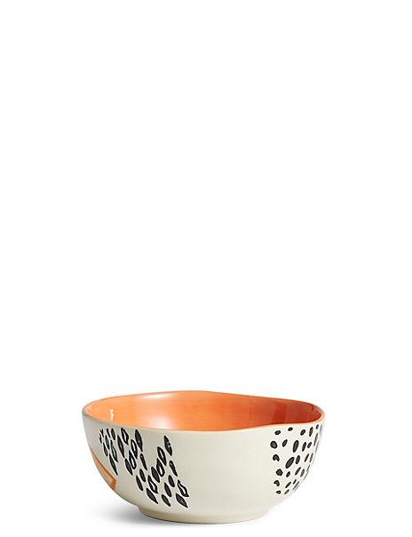 Hand Painted Abstract Dots Nibble Bowl