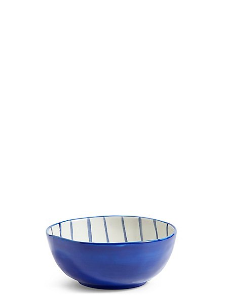 Hand Painted Stripe Nibble Bowl