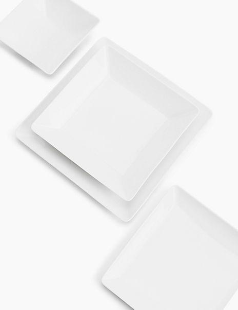 Maxim Square Porcelain Dinner Plate