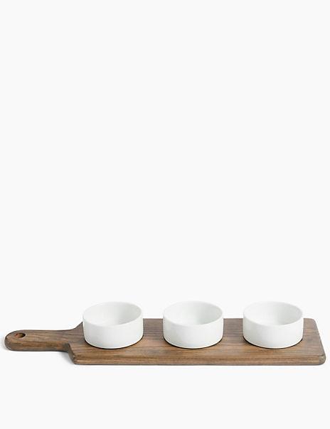 Ash Wood Oblong Dip Platter