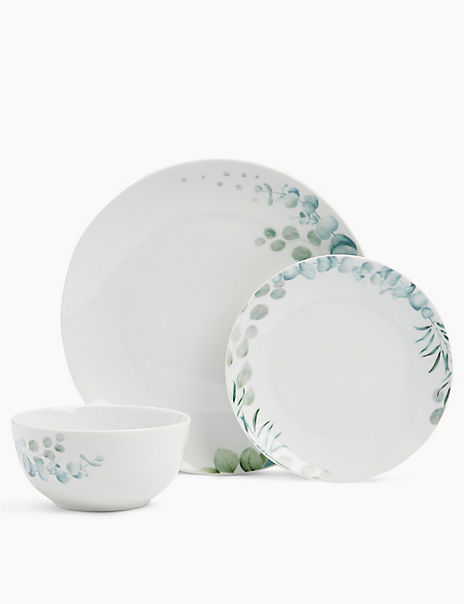 12 Piece Eucalyptus Dinner Set