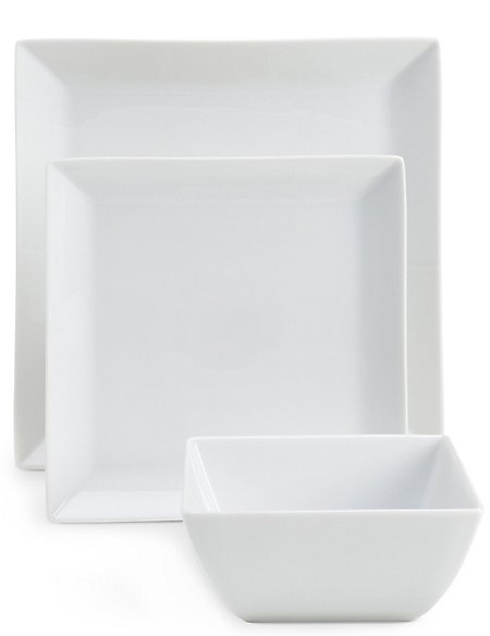 12 Piece Maxim Square Dinner Set