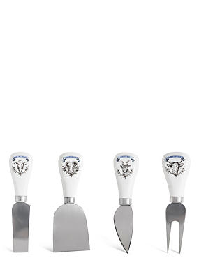 Set 4 Ceramic Cheese Knives