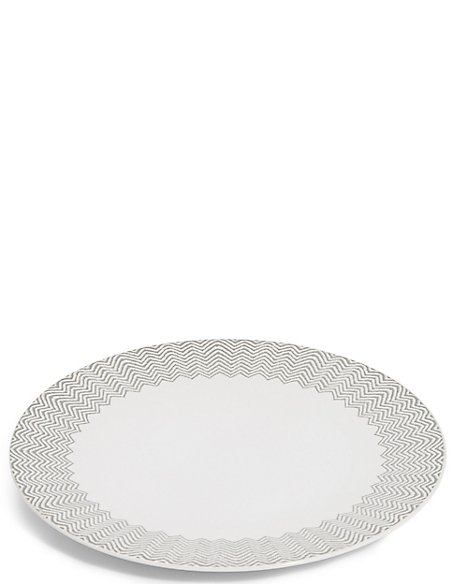 Zig Zag Print Dinner Plate
