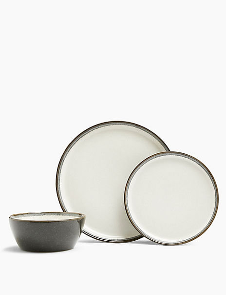 12 Piece Amberley Stoneware Dinner Set