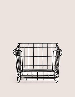 Large Stackable Storage Basket