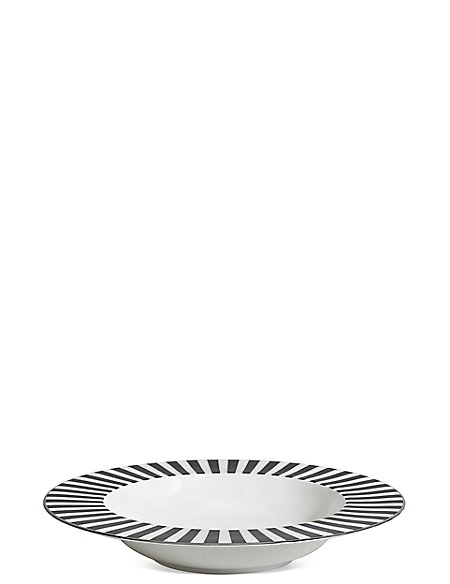 Sue Timney Stripe Pasta Bowl