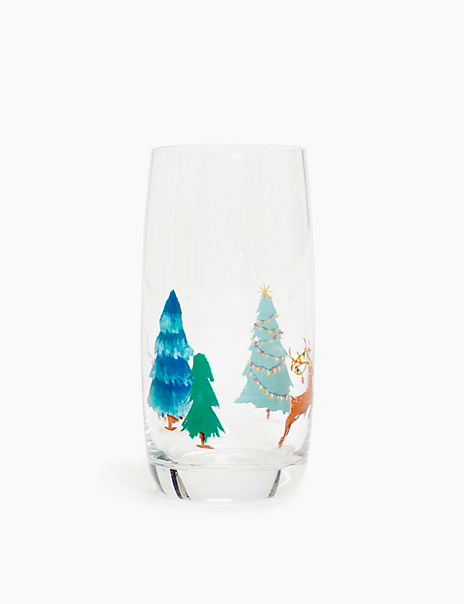 Festive Hi Ball Glass