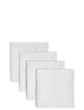 Set of 4 Metallic Damask Napkins