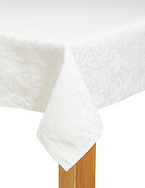 Metallic Damask Tablecloth