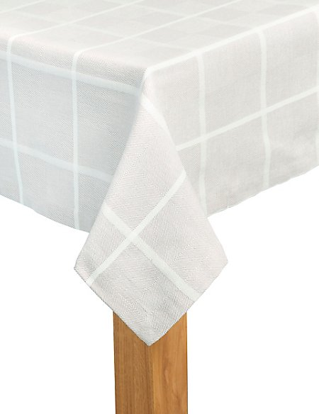 Multi Weave Check Tablecloth