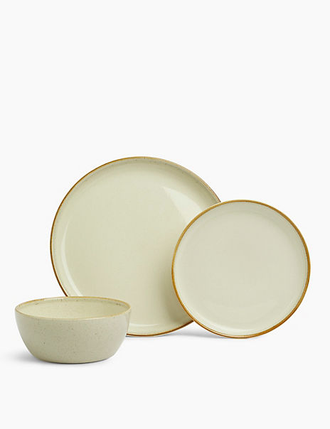 12 Piece Amberley Stoneware Crockery Set
