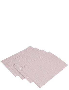 Set of 4 Metallic Vinyl Placemats