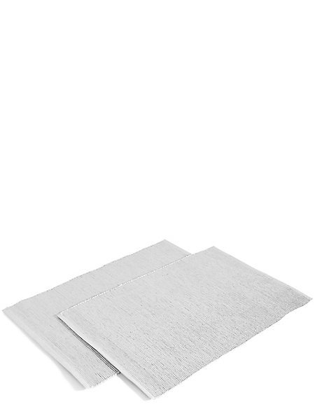 Set of 2 Metallic Rib Placemats