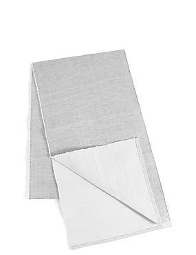 Metallic Cotton Rib Runner, SILVER, catlanding